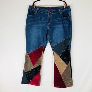 JYPSY JEANS Vintage Multi-Fabric JEANS Sz. 22W
